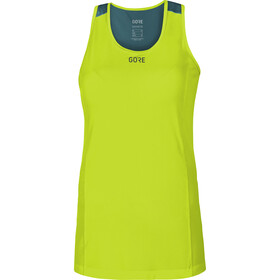 GORE WEAR R7 Top senza maniche Donna, citrus green/dark nordic blue